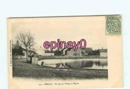 Br - 03 - CERILLY - Un Coin Du Village Et L'église  - édit. Bogureau - - France