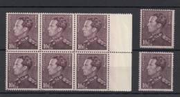 N° 434 : Bloc De 6 **  2 Timbres ** - 1936-1951 Poortman