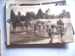 Afrika Africa Scenes Et Types Traversée D' Un Oued - Postkaarten
