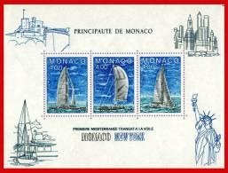 BLOC 32  1985  ( COURSE TRANSATL. MONACO NEW YORK A LA VOILE  ) - Blokken