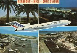 N°29055 GF-cpsm Aéroport De Nice -Airbus Air France- - Aérodromes