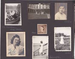Photos Belgique Bruxelles Femme Sibotton Simone - 12 Petites Photos; La Cambre 1942 Enfant Voiture - Personnes Identifiées