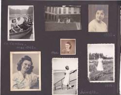 Photos Belgique Bruxelles Femme Sibotton Simone - 12 Petites Photos; La Cambre 1942 Enfant Voiture