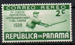 Panama 1938 - Giochi Centroamericani Central American Games Baseball MH * - Panamá