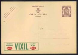 BELGIQUE - LESSIVE - LAVAGE / ENTIER POSTAL PUBLICITAIRE ILLUSTRE - PUBLIBEL # 867 (ref E266) - Publibels