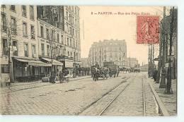 PANTIN - La Rue Des Petits Ponts Animée - Café De La Comète - Attelage - Edit. Larpent - 2 Scans - Pantin