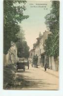 EAUBONNE - La Rue D' Ermont Animée Et Colorisée - Tacot Et Attelage - Edition C.M. - 2 Scans - Eaubonne