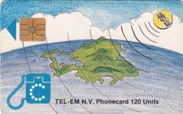 SAINT MARTIN - Island & Satellite(120 Units, Black Logo), Chip GEM1b, Used - Antilles (Netherlands)