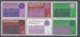 AUSTRALIE -  1971  -   NOEL  -   N°  450 à  455 -    XX  -  MNH  - - 1966-79 Elizabeth II
