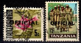Tanzania - Lot Of 2 Offical Stamps - Used - Tansania (1964-...)