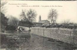 DEPTS DIV -pyrenees Orientales  -ref -F693- Pezilla De La Riviere - Vue Generale Du Rec D En Carbou  -carte Bon Etat- - France