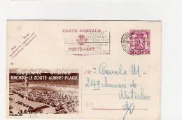 Publibel Obl. N° 687 Brune (Visitez ALBERT - PLAGE )  Obl: Bxl: 1947 - Entiers Postaux