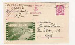 Publibel Obl. N° 686 Verte (MIDDELKERKE  , Pellicule De Fim !!!) Obl: 1947 - Entiers Postaux