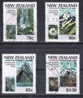 New Zealand 1987 National Parks Set Of 4 Used - New Zealand