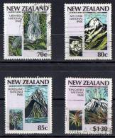 New Zealand 1987 National Parks Set Of 4 Used - - New Zealand