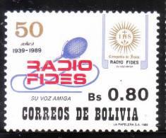 Bolivia 1989 Radio FIDES MNH - Bolivië