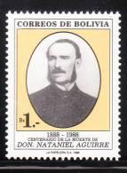 Bolivia 1988 Nataniel Aguirre Author MNH - Bolivië
