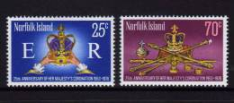 NORFOLK - 1978 - 25e Ann De La Coronnation D'Elisabeth II - 2v Neufs *** // Mnh - Norfolk Island