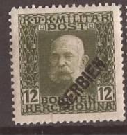 1916 X  194  SERBIA SRBIJA AUSTRIA OSTERREICHISCHE FELDPOST Leger  HINGED - Serbia