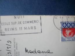 REIMS 51 -NUIT ECOLE SUP.DE COMMERCE 11 MARS 1967 - Marcophilie (Lettres)