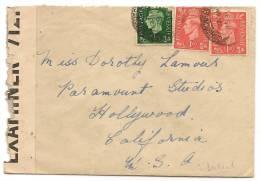 CINEMA & MUSIC - DOROTHY LAMOUR - Uk CENSORED 1940¨s COVER To PARAMOUNT STUDIOS - HOLLYWOOD