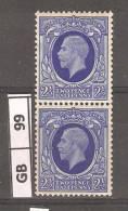 GRAN BRETAGNA,1912/22, Re Giorgio V, Filigrana Royal Cyther, 2,5p, Coppia Di 2 Nuovi - 1902-1951 (Re)
