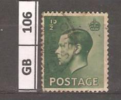 GRAN BRETAGNA, 1936, Edoardo VIII, 0,5 P, Usato - Usati