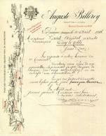 21.COTE D'OR.BEAUNE. GRANDS VINS DE BOURGOGNE.AUGUSTE BILLEREY PROPRIETAIRE NEGOCIANT. - Alimentaire