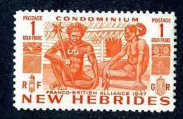 293)  NEW HEBRIDES  1953   SG.#76  (*) - Nouvelles-Hébrides