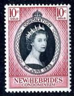 298)  NEW HEBRIDES  1953   SG.#79  (*) - Nouvelles-Hébrides