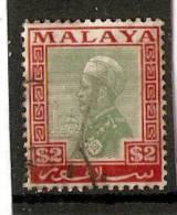 MALAYA SELANGOR 1936 $2 SG 84 FINE USED Cat £6 - Selangor