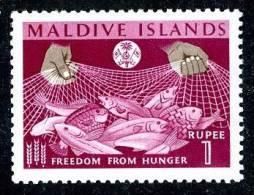 304)  MALDIVES  1963   Sc.#124  (*) - Maldives (1965-...)