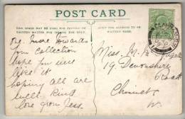 Postmark - Clapham S.W. Double Circle Date Stamp - EVII 1906 - On Postcard - Poststempel