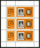 """1976 Ungheria """"Italia 76"""" Esposizione Filatelica Stamp Exhibition Block MNH** -Spa246 - Blocchi & Foglietti"""