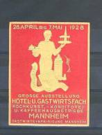 MANNHEIM 1928 GROSSE AUSSSTELLUNG HOTEL-U.GASTWIRTSFACH - Cinderellas