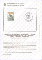 BOLLETTINO ILLUSTRATIVO, PATRIMONIO CULTURALE ITALIANO: HOMO AESERNIENSIS - L. 500 - 6/2/1988 - CAT.SASSONE: 1822 - 1/88 - 6. 1946-.. Repubblica