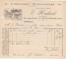 94 LA VARENNE SAINT HILAIRE St FACTURE 1907 CAOUTCHOUC Manufacturé E. HUILARD ( Anc. BUHOT )  - F5 - 1900 – 1949
