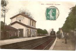 77 CHANGIS La Gare Avec Train, Animée, TB CP Ancienne Animée - France