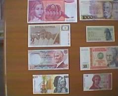 LOTTO 8 BANCONOTE STRANIERE FIOR DI STAMPA (C) - Banconote