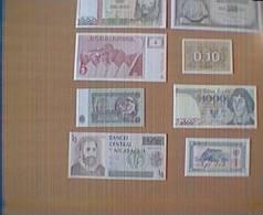 LOTTO 8 BANCONOTE STRANIERE FIOR DI STAMPA (D) - Banconote