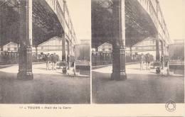 INDRE Et LOIRE - TOURS - Hall De La Gare - CARTE STEREO - IMPECCABLE ETAT - Tours