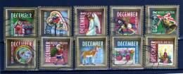Nederland, Holanda, Serie Completa Año 2010 Yvert Nr. Usada  Navidad - Nuevos