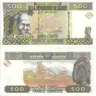 Guinea P36, 500 Francs, Young Woman / Diamoned Mine, Cerimonial Headdress $3+CV! - Guinee