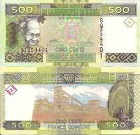 Guinea P39, 500 Francs, Girl In Scarf, Drum / Diamond Mining $3+CV5CV - Guinee