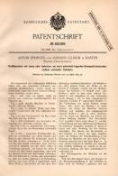 Original Patentschrift - A. Springer Und J. Ullrich In Kasten B. Böheimkirchen , 1892 , Kraftmaschine Mit Cylindern !!! - Maschinen
