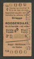 QT22 BELGIUM CIV 3rd Cl Brugge - Roosendaal - Railway