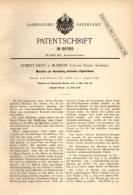 Original Patentschrift - R. Hotz In Bubikon B. Hinwil , 1892 , Maschine Für Konische Papierhülsen , Papier !!! - Machines
