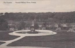 Kansas National Military Home The Fountain Albertype