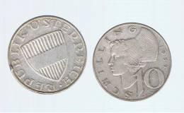 AUSTRIA  -   10 Shilling 1957  KM2882  PLATA - Autriche