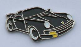 Pin's PORSCHE 911 NOIRE  DECAPOTABLE - Editions Atlas - C117 - Porsche